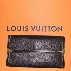 Louis Vuitton Suhali Black Leather Wallet